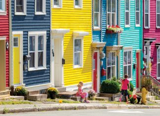 Kids playing, Kings Road, Avalon, NL