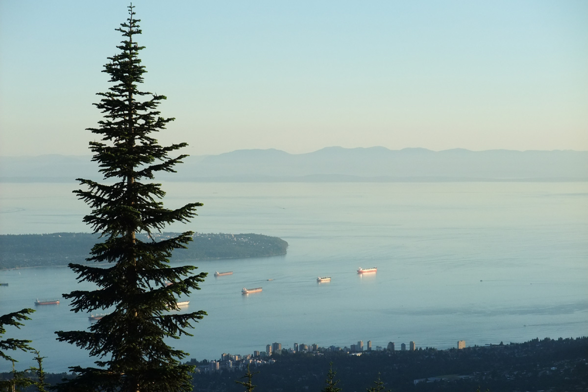View from Grouse Montarin, Vancouver