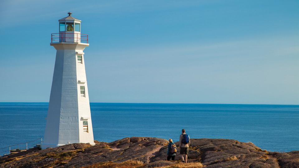 Hiking near Cape Spear Lighthouse National Historic Site, Avalon, NL