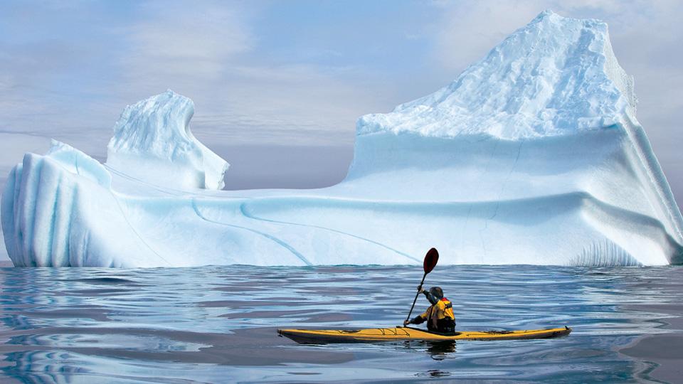 Kayaker & Iceberg Destination Labrador, NL