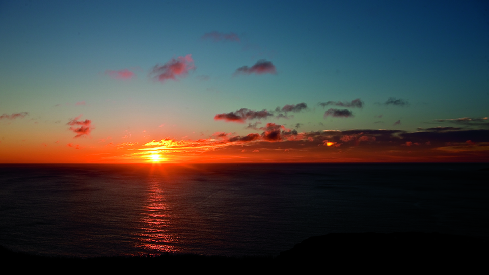View of the First Sunrise in North America from Signal Hill, St. John's, Avalon, NL