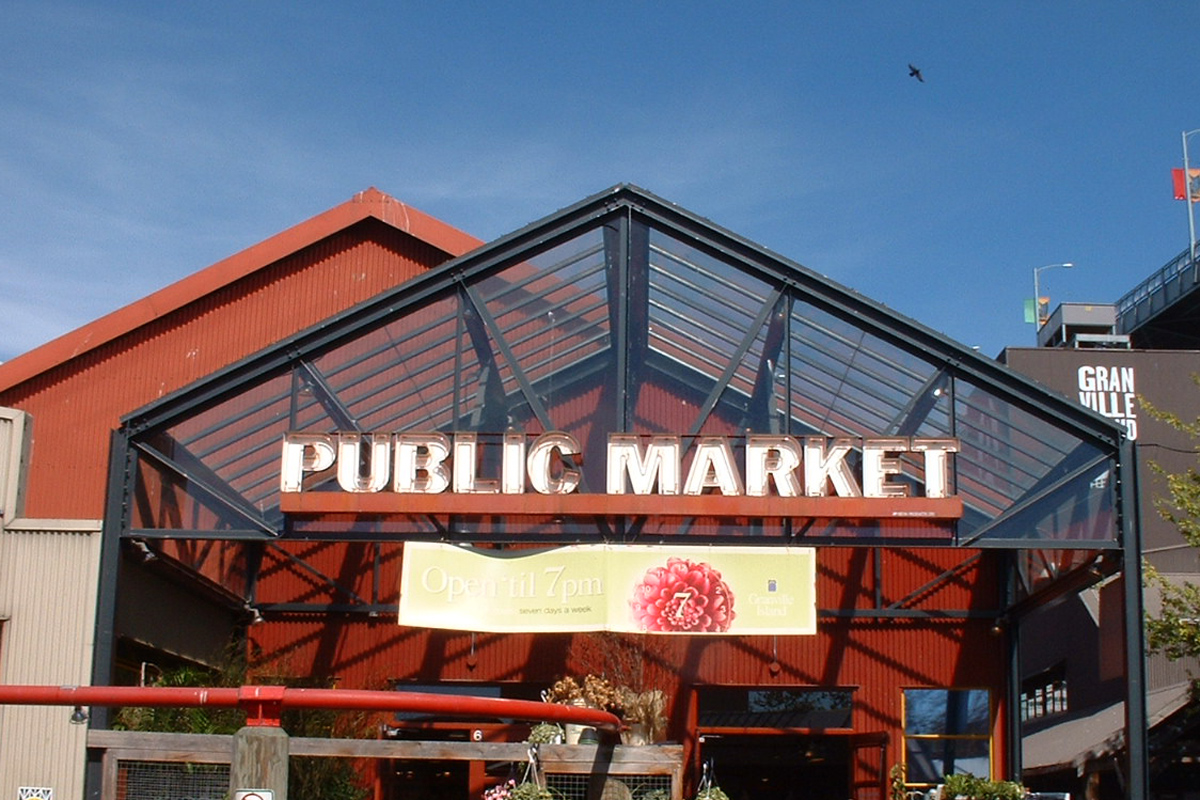 Public Market in Granville Island, Vancouver, Canada; Photo by ©Pacific Walkers