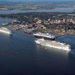 Charlottetown Cruise Ships Aerial, PEI