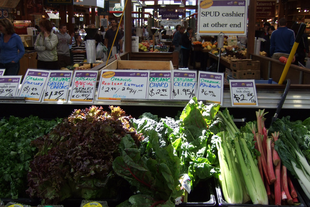 Vegs at Public Market in Granville Island, Vancouver, Canada; Photo by ©Pacific Walkers