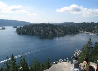 Beautiful View from Quarry Rock, Deep Cove, North Vancouver, British Columbia; Photo by ©Pacific Walkers