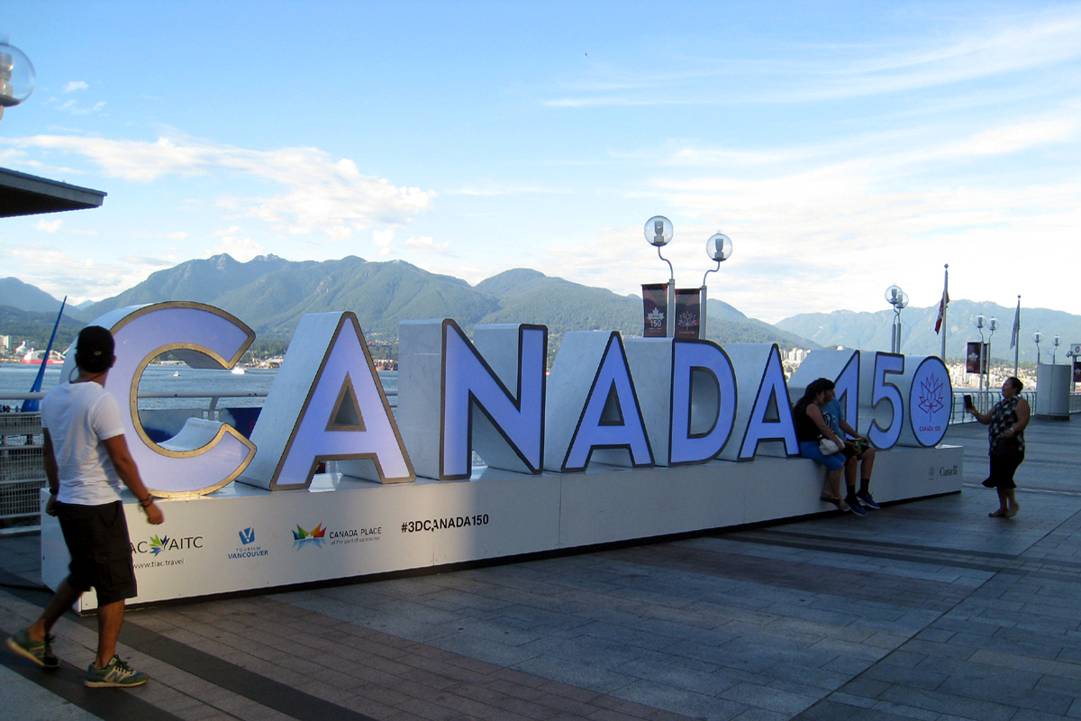 Canada150 at Canada Place in 2017, Vancouver, British Columbia; Photo by ©Pacific Walkers