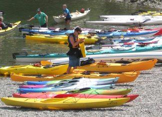 Kayaks at Deep Cove in North Vancouver, British Columbia