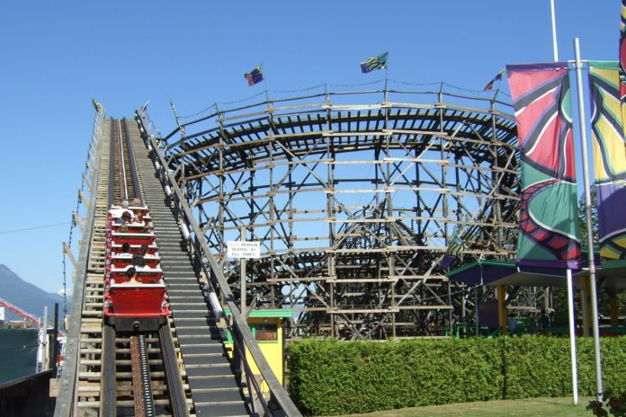 Wooden Roller Coaster, PNE, Vancouver, BC; Photo by ©Pacific Walkers