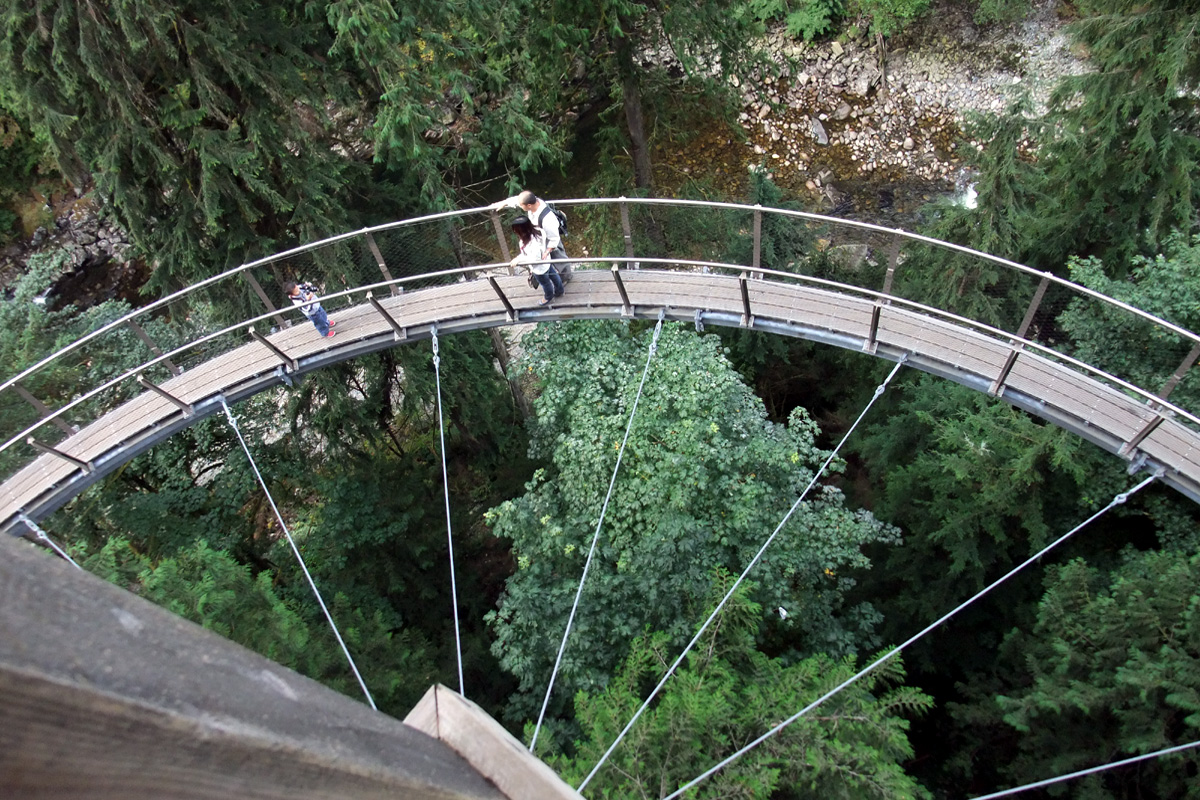 Cliff Walk at Capilano Suspension Bridge in North Vancouver, British Columbia; Photo by ©Pacific Walkers