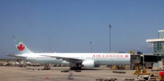 Air Canada plane in Vancouver International Airport, British Columbia; Photo by ©Pacific Walkers/ File photo