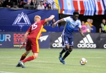 MF Davies (#67) against Real Salt Lake on Sep 9, 2017, BC Place. Photo by ©Preston Yip