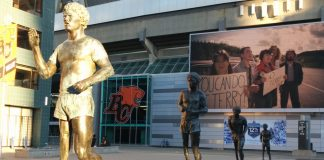 Terry Fox Bronze at BC Place, Vancouver, British Columbia; Photo by ©Pacific Walkers