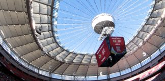 BC Place from inside; Photo by ©Sam Maruyama