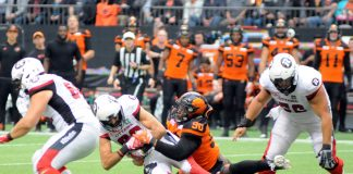 CFL BC Lions against Ottawa Redblacks