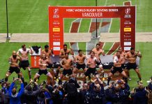 Canada Sevens 2016 winner Team New Zealand's winning dance, Haka.