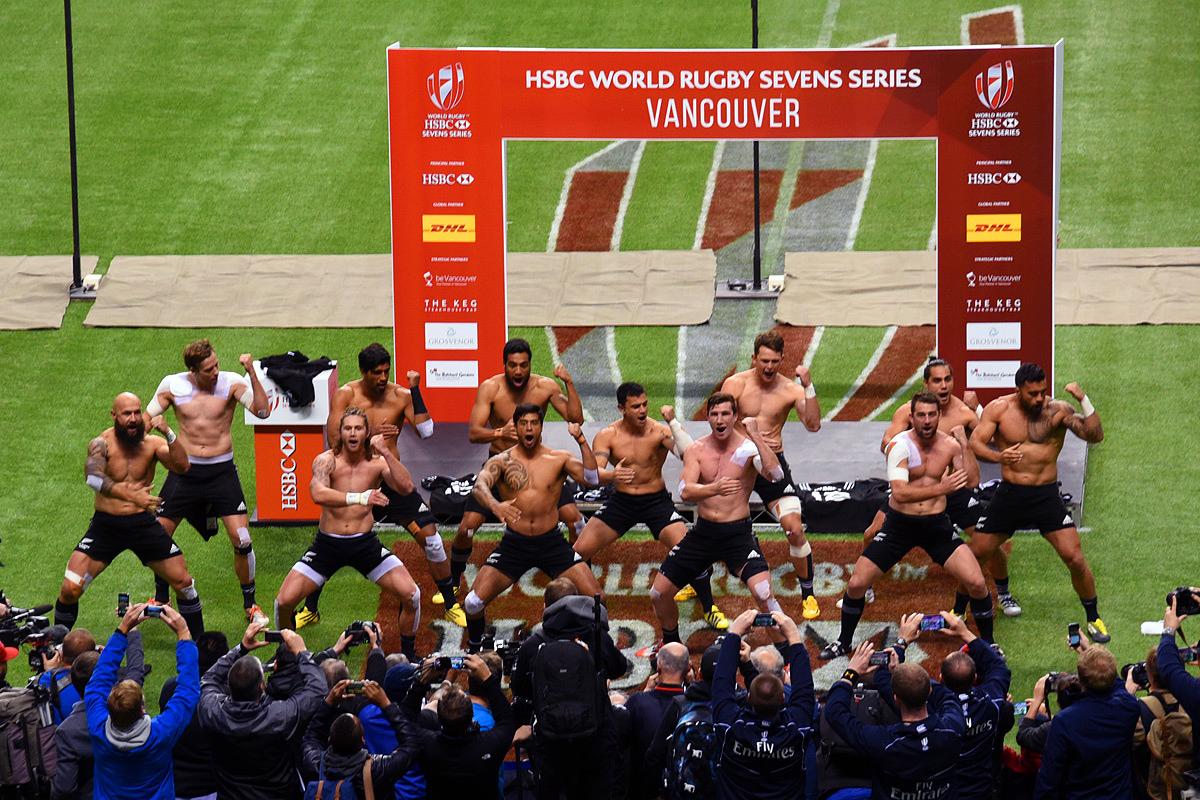 Canada Sevens 2016 winner Team New Zealand's winning dance, Haka.