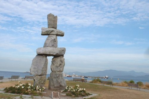 Inukshuk at English Bay