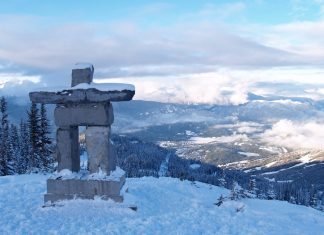 Inukshuk at the top of the Mountain