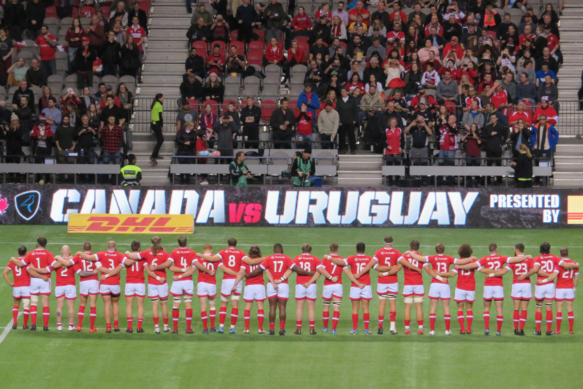 Rugby Canada15 vs Uruguay on Jan 27 2018, BC Place