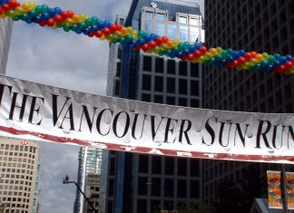 Vancouver Sun Run Starting point, Downtown Vancouver; Photo by ©Pacific Walkers