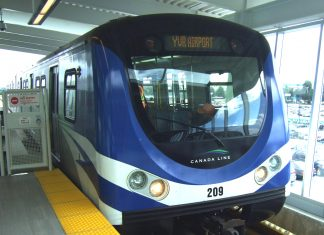 Connect between YVR and downtown Vancouver, Skytrain Canada line; Photo by ©Pacific Walkers/ File Photo