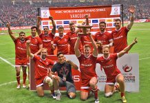 Canada Sevens of Team Canada 9th place on March 13, 2016 at BC Place, Vancouver; Photo by ©Koichi Saito