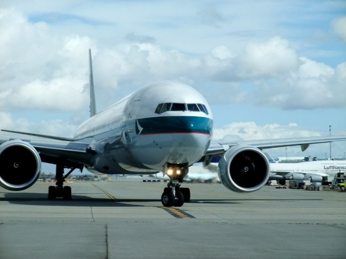 Cathay Pacific Airline of One World arrived at Vancouver International Airport; Photo by ©Pacific Walkers/ File Photo