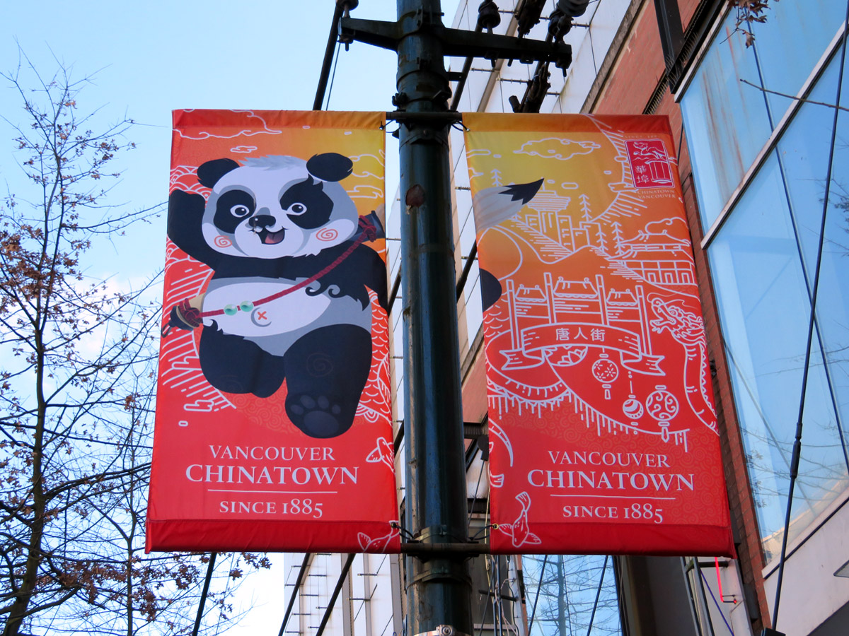Pandas are all over in Chinatown, Vancouver; Photo by ©Pacific Walkers