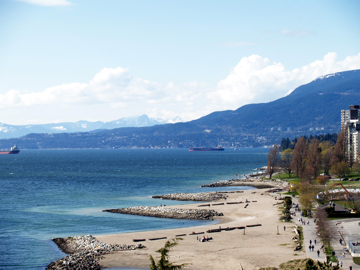 A View of Sunset beach from Burrard Bridge, Vancouver