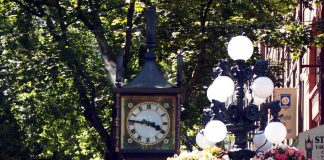 The popular spot in Vancouver, the Steam Clock; Photo by ©Pacific Walkers