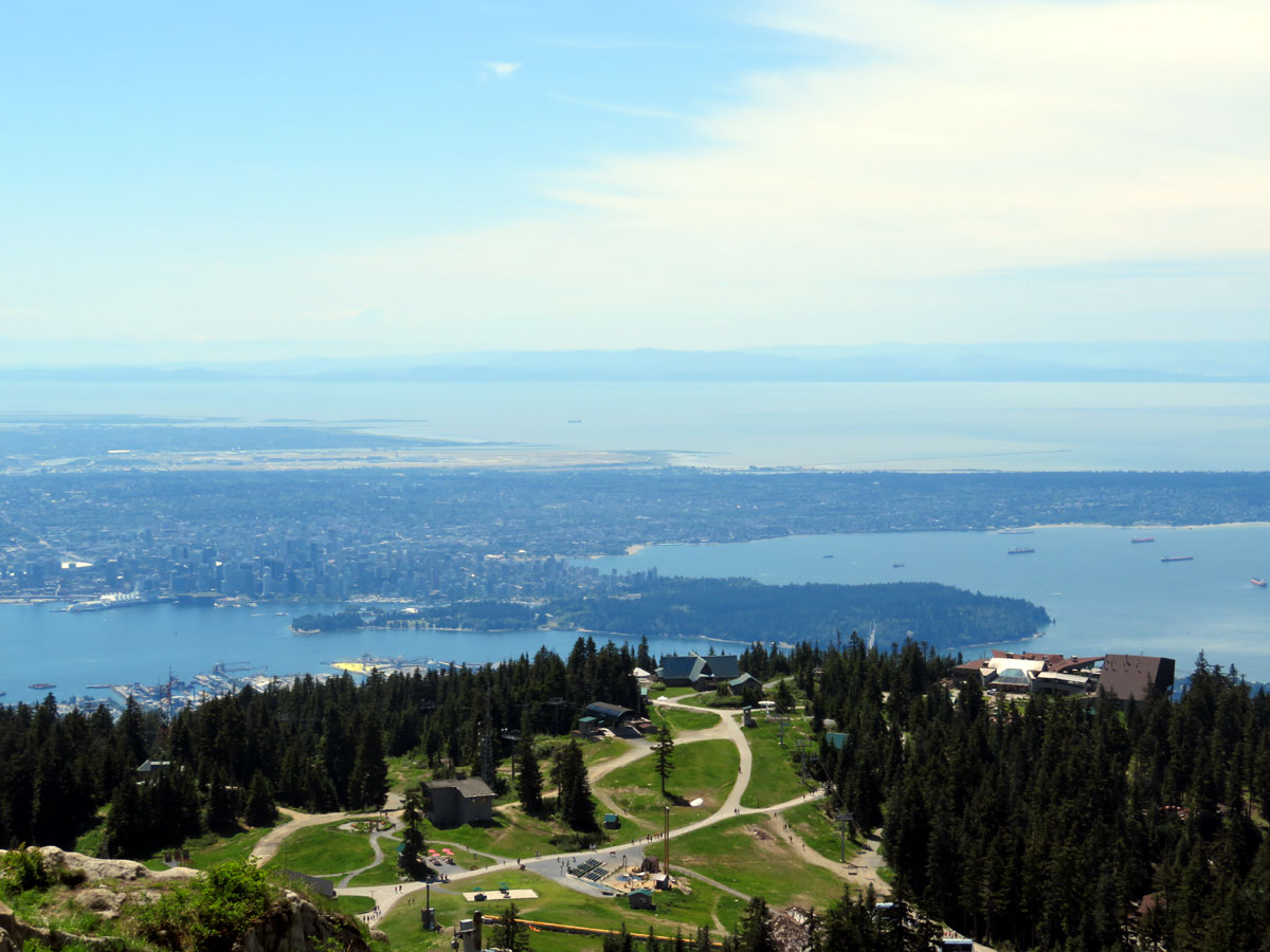 the top of Grouse Mountain; Photo by ©Pacific Walkers