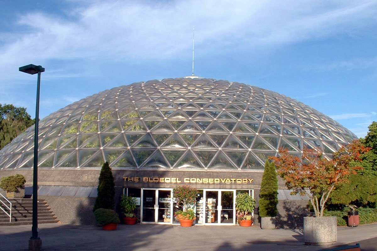 Bloedel Conservatory at Queen Elisabeth Park, Vancouver, BC; Photo by ©Pacific Walkers