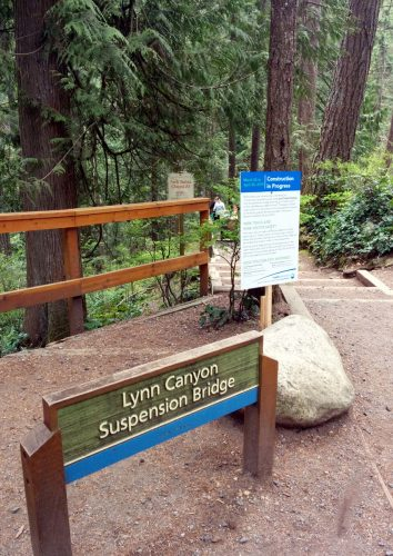 The entrance of Lynn Canyon Suspension Bridge; Photo by ©Pacific Walkers