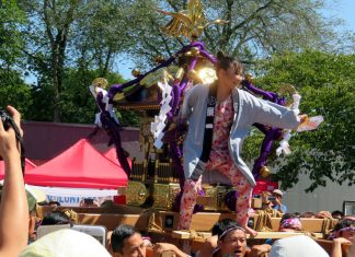 Powell Street Festival most popular event, Mikoshi, 2018; Photo by ©Pacific Walkers