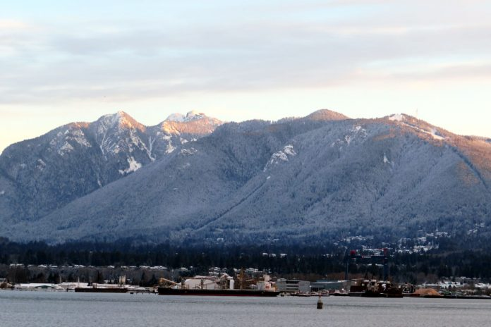 Snow on NorthShore mountains, Vancouver, BC; Photo by ©Pacific Walkers