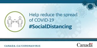 COVID-19 Social distancing campaign by Health Canada; Photo from twitter